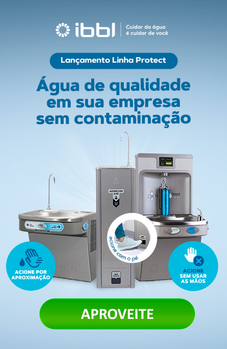 Conheça nossos purificadores de água com acionamento sem o contato das mãos